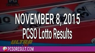 PCSO Lotto Results November 8, 2015 (6/58, 6/49, Swertres & EZ2)