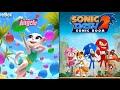 My Talking Angela Level 300 Vs. Sonic Dash 2: Sonic Boom - Gameplay HD