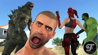 Super Heros vs Godzilla | Full version | PUBG Animation
