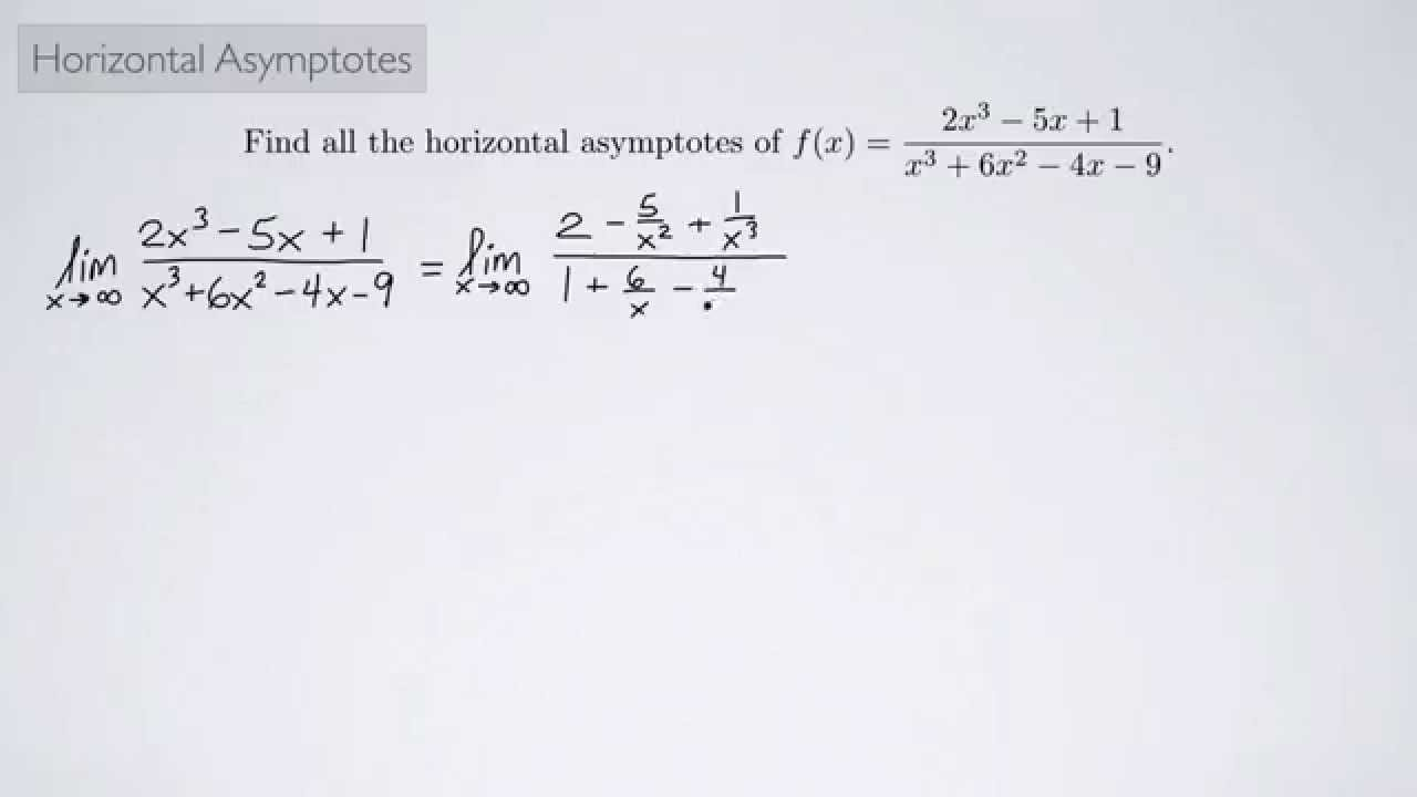 Single variable calculus 1 horizontal asymptotes youtube single variable calculus 1 horizontal asymptotes ccuart Images