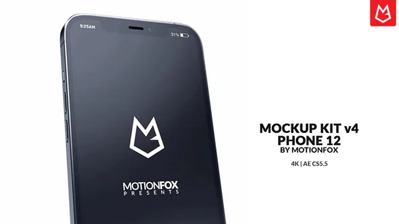 App Promo Mockup Kit / Phone 12 Pro (After Effects Template) ★ AE Templates