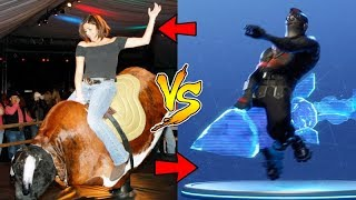 *NEW* FORTNITE ROCKET RODEO DANCE IN REAL LIFE! FORTNITE FUNNY MOMENTS!