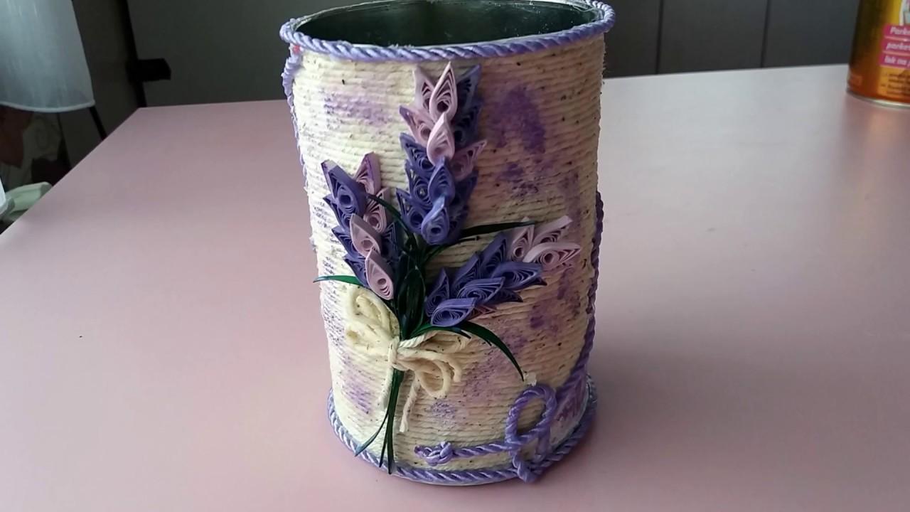 Vaza Cu Sfoara Coji De Ou Si Lavanda Srring With Vase Egg Shells And Lavender