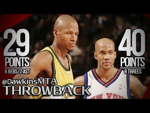 Stephon Marbury vs Ray Allen SHOOTOUT 2007.03.06 - Allen With 29 , Marbury With 40!