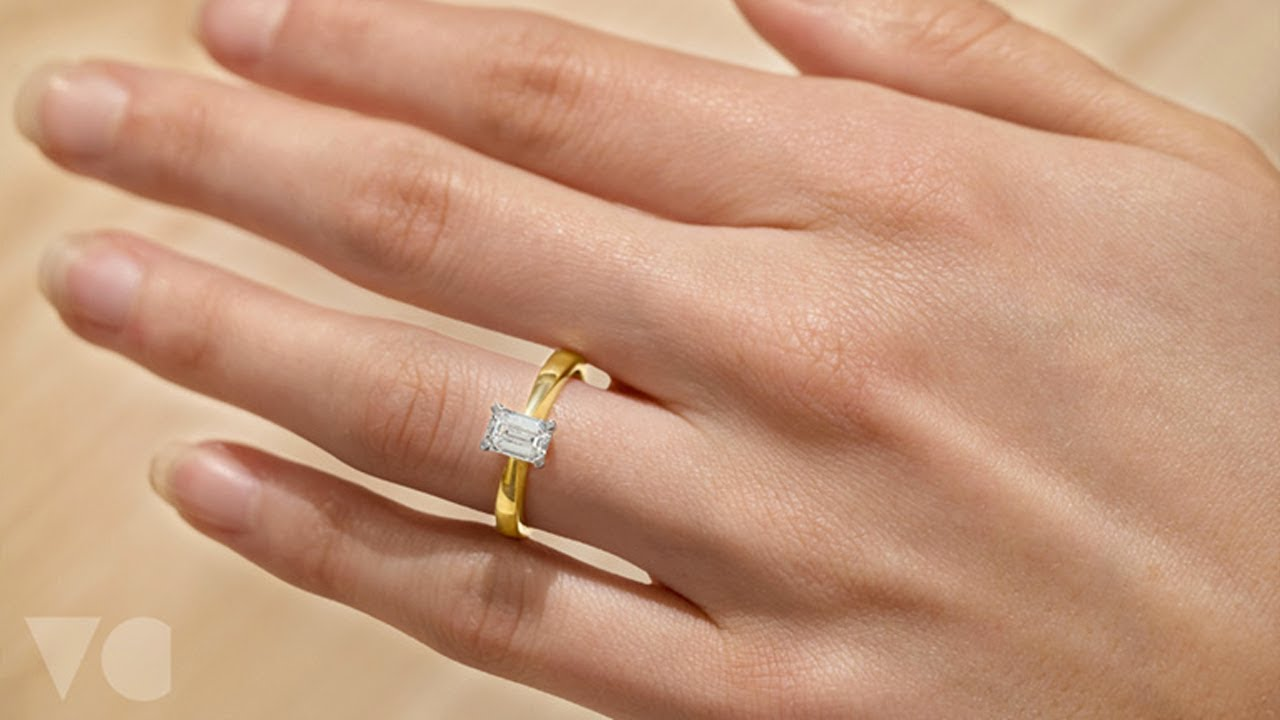 Emerald Cut Diamond Solitaire Engagement Ring The Village Goldsmith Youtube