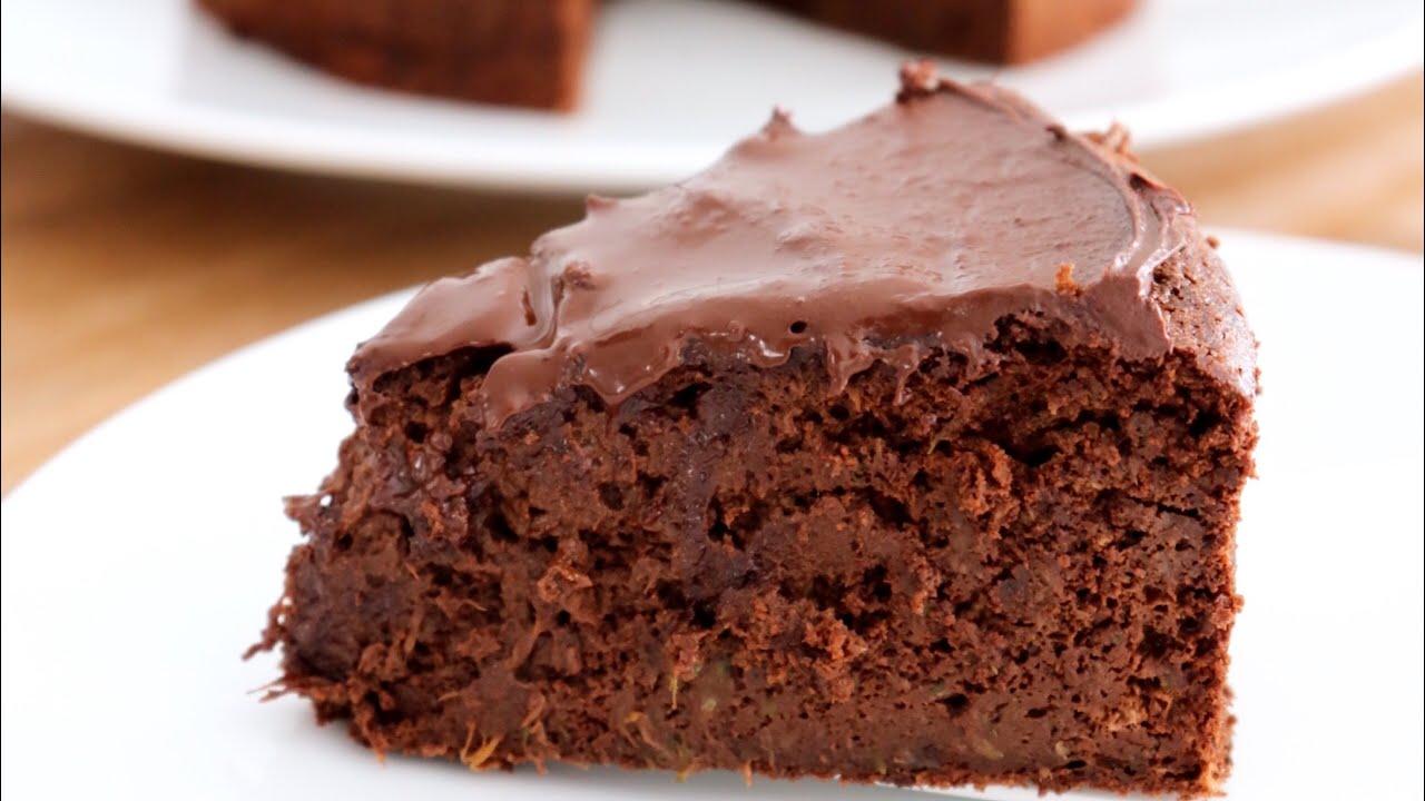 Gâteau au chocolat sans beurre et sans sucre. - YouTube