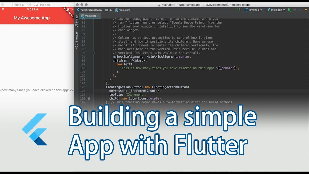 Building a simple mobile app with Flutter