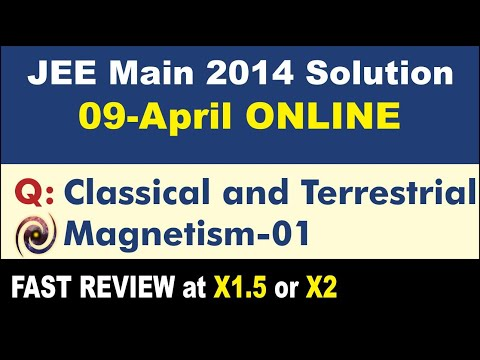 JEE Main Solution 2014 | Online Classical and Terrestrial Magnetism 01