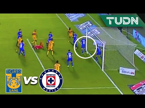 ¡POLÉMICA! ¿El balón cruzó la línea? | Tigres 1-2 Cruz Azul | Guard1anes 2020 Liga BBVA MX | TUDN