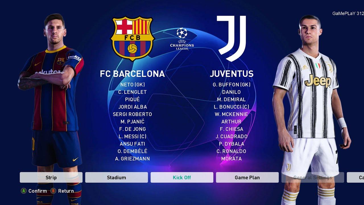 PES 2021 - Barcelona vs Juventus - UEFA Champions League ...