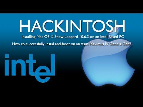 Mac OS X Snow Leopard Install On PC Asus Maximus IV Genz Gen3