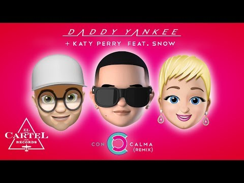 Daddy Yankee + Katy Perry Feat. Snow - Con Calma Remix (Video Con Letra Oficial)