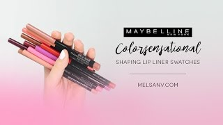 Maybelline Colorsensational Shaping Lip Liner Swatches