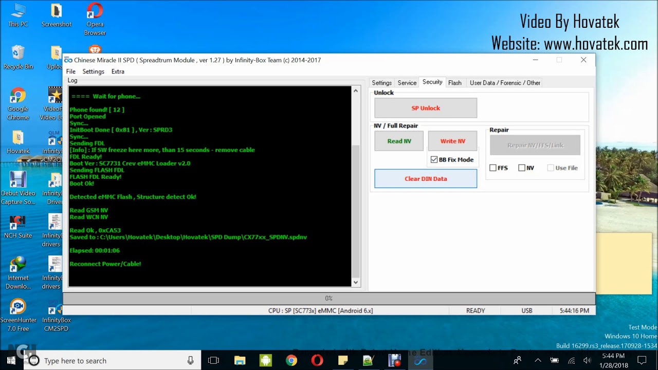 How to use Infinity CM2 to backup & restore Spreadtrum NV