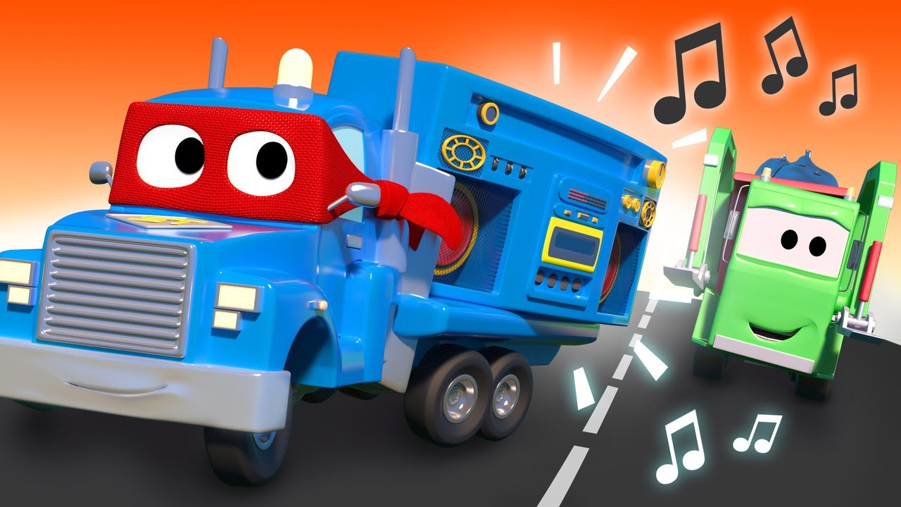 Video về xe tải dành cho thiếu nhi - Xe tải còi xe - Siêu xe tải Carl