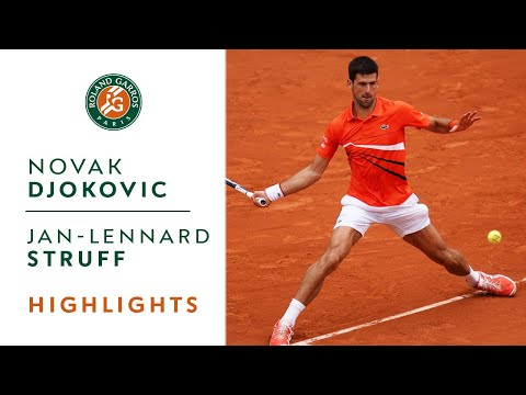 Novak Djokovic Vs Jan-Lennard Struff - Round 4 Highlights | Roland-Garros 2019