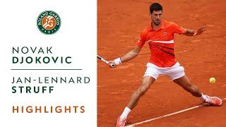Novak djokovic vs jan-lennard struff - round 4 highlights   roland-garros 2019