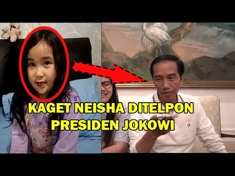 Kebahagiaan  Neisha anak kecil yang ditelpon Presiden Jokowi akibat nangis