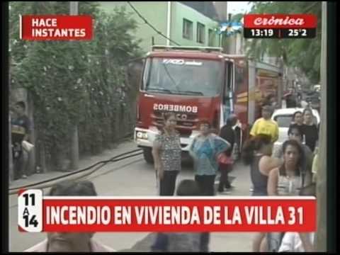 Incendio en vivienda de la Villa 31 - YouTube - photo#13