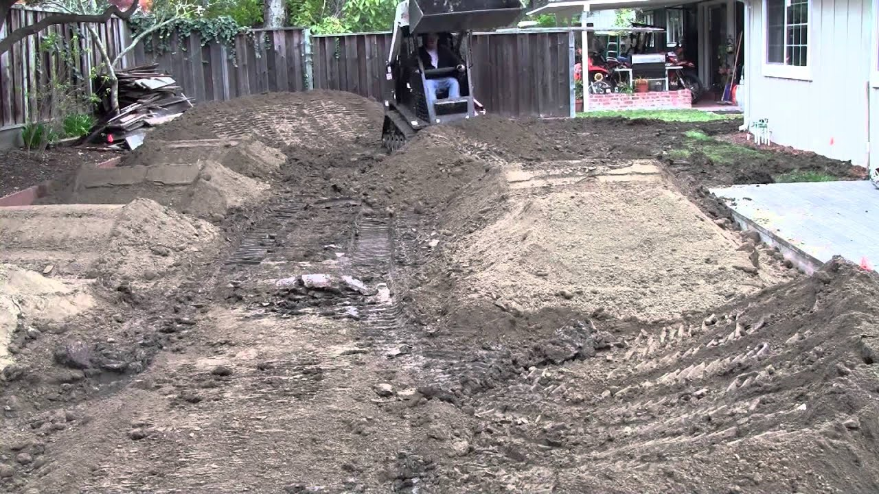Backyard Pumptrack backyard pump track timelapse - youtube