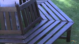 Fillmore Wooden Tree Surround Bench - Dark Brown Stain - Product Review Video