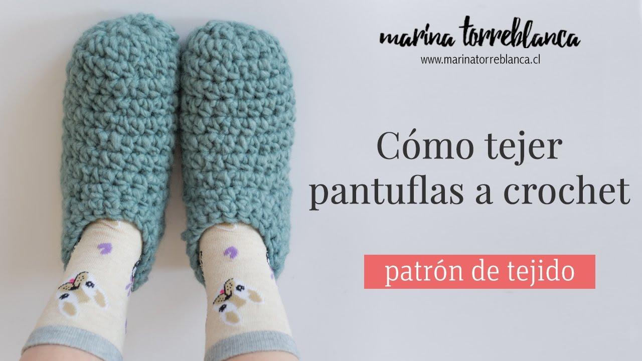 Como tejer pantuflas a crochet [Patrón de tejido] - YouTube