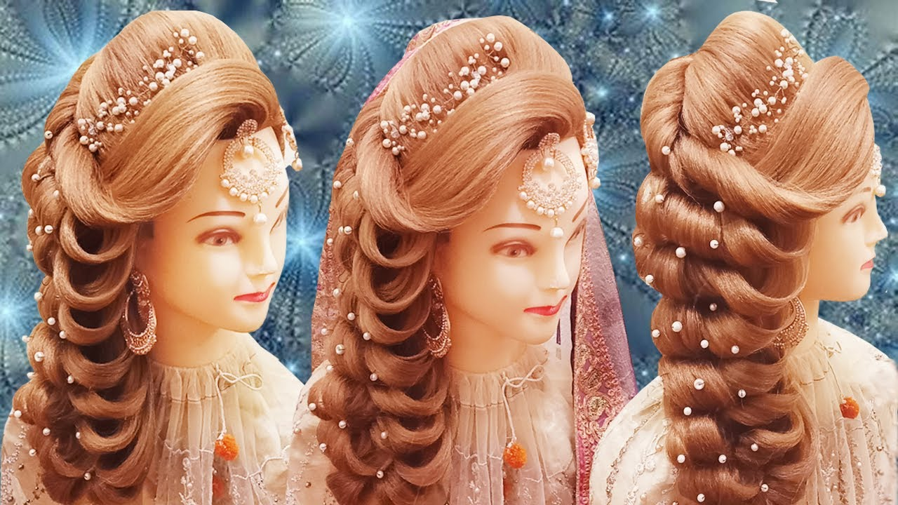 Kashee's Bridal Hairstyles | Latest Bride Hairstyles 2020 | Front Layer Puff Hairstyles Step By Step