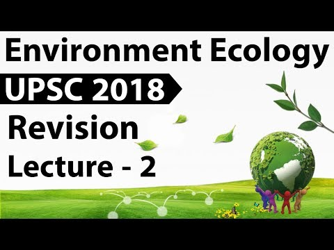 Environment and Ecology Revision for UPSC 2018 - Important topics and Current Affairs - Part 2