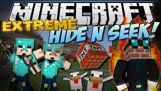 Minecraft | EXTREME HIDE N SEEK! (TNT, Chickens, Pigs, Explosions & More!) | Minigame