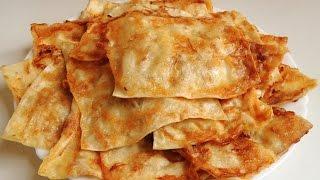Вкусные гренки из лаваша