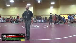 Schoolboy 136 Gavin Thammavongsa Nevada Vs Kaleb Cordova Arizona