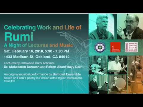 Celebrating Work and Life of Rumi: A Night of Lectures and Music