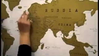 Scratch map: настенная Scratch карта мира в подарочном тубусе на Английском языке