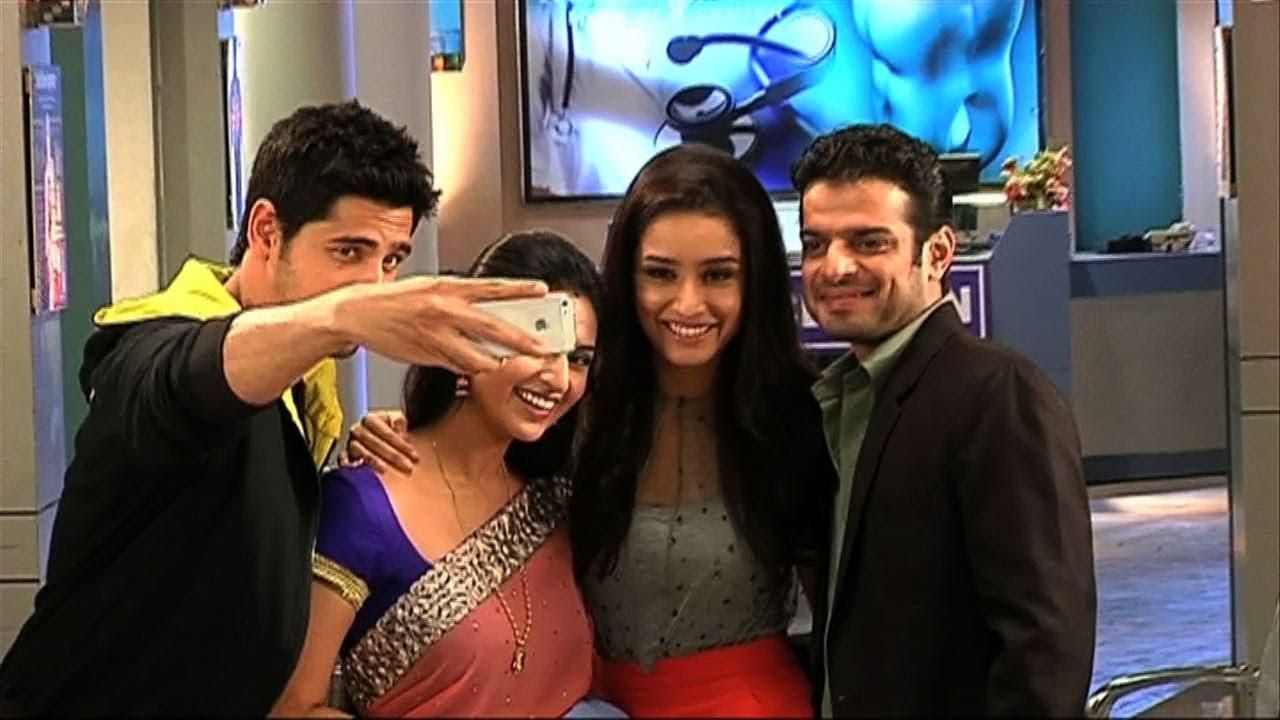 Ek Villain's cast on the sets of Yeh Hai Mohabbatein - YouTube