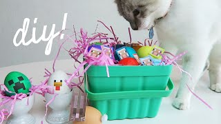 minecraft easter eggs diy monday vlog