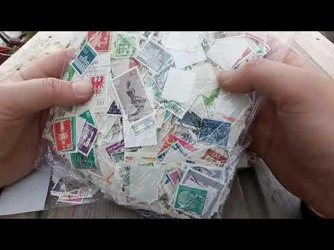 Почтовые марки Европы в запайке с аукциона Мешок в коллективе 10000