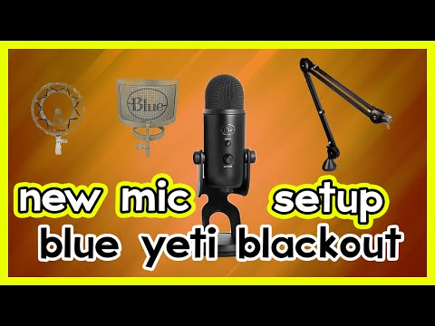 Blue Yeti Blackout Edition Setup and Review