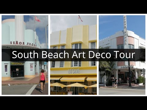 South Beach Miami Art Deco Tour + Miami & Quito Airport Vegan Food