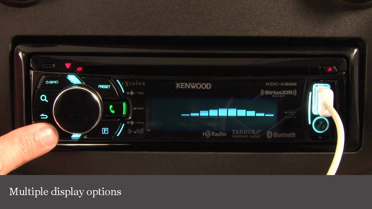 Kenwood Excelon KDC-X896 CD Receiver Display and Controls