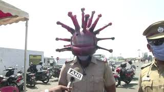Indian police wear a