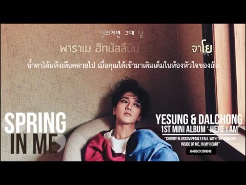 [KARAOKE/THAISUB] Yesung (Duet.Dalchong Of CHEEZE) - Spring In Me