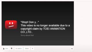 This video is no longer available due to a copyright claim by TOEI ANIMATION CO.,LTD..