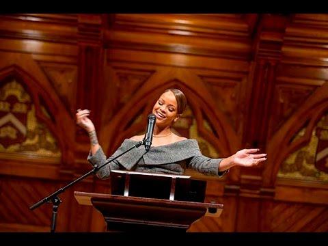Rihanna Accepts Harvard's Humanitarian Award Like The Total Boss She Is .