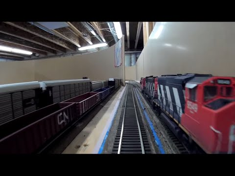CN Stamford & Grimsby Subs - Full Trip Around The Layout - March 2015