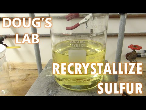 Recrystallization Of Sulfur