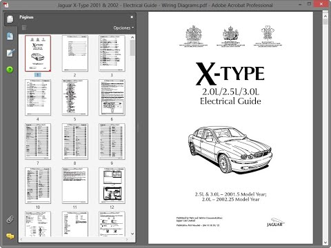 Jaguar X-Type 2001 & 2002 - Electrical Guide - Wiring Diagrams on
