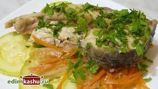 Простейшее блюдо из рыбы в духовке! Сазан, запеченный кусочками с Кабачками