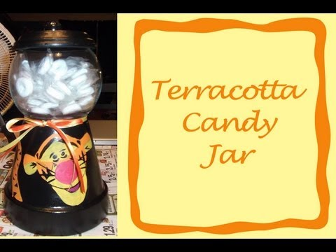 Diy How To Make A Terracotta Candy Jar Youtube