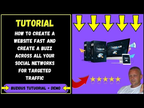 Buzzious Review - How To Build A Website With Buzzious - Davefinn Tutorials