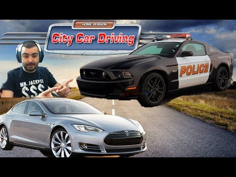 Tesla Model 3 - Ford Mustang Shelby /Test Drive/ City Car Driving #12